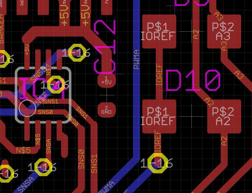 Arduino Uno and Motor shield IOREF power fail